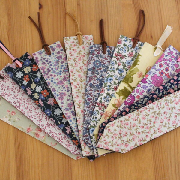 Floral Linings Leather bookmarks