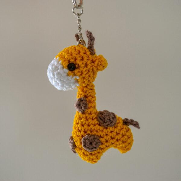 Little Smidge of Happiness, Cute Giraffe Crochet Keyring