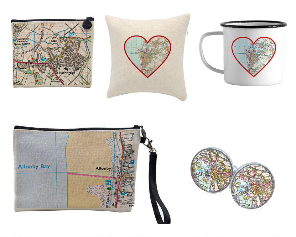 Go Your Own Way, Personalised Map Heart Accessories