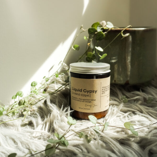 Living Jar, Hand Poured Natural Candles, Liquid Gypsy Candle