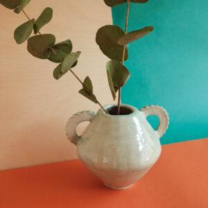 Victoria Ceramics, handmade stoneware aqua vase