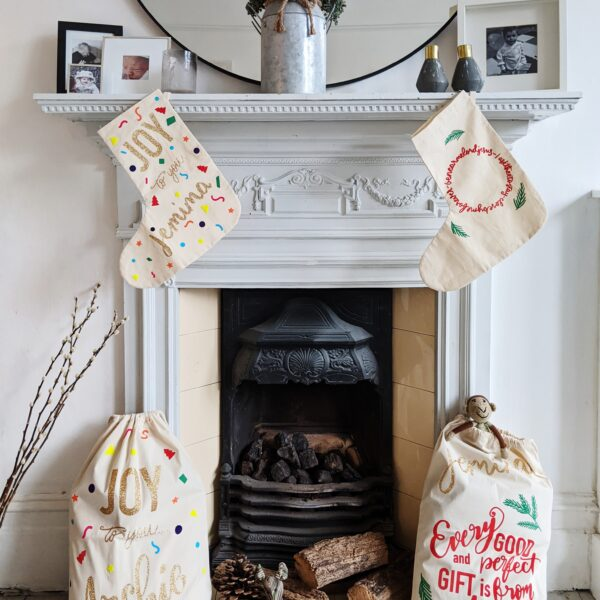 Grizzli Bear Christmas Stockings and Christmas Santa sacks