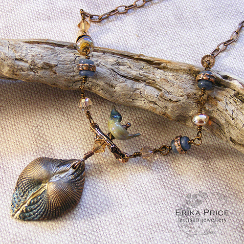 Erika Price The Earth in Winter Necklace