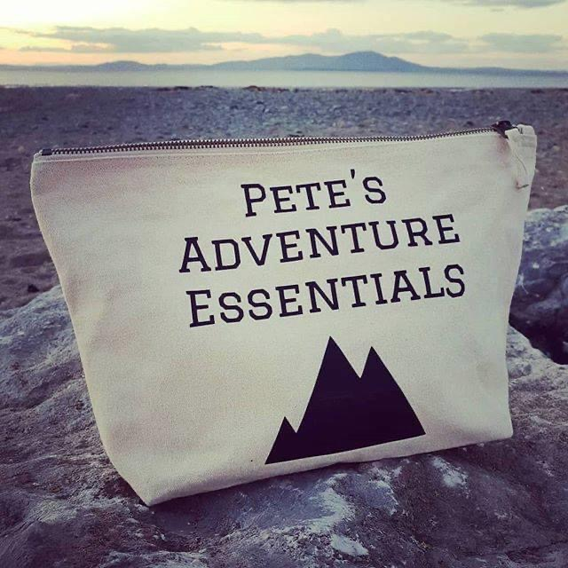Go Your Own Way, Personalised Canvas Adventure Wash Bag