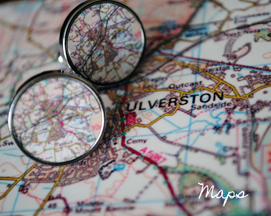 Go Your Own Way, Personalised Map Cufflinks