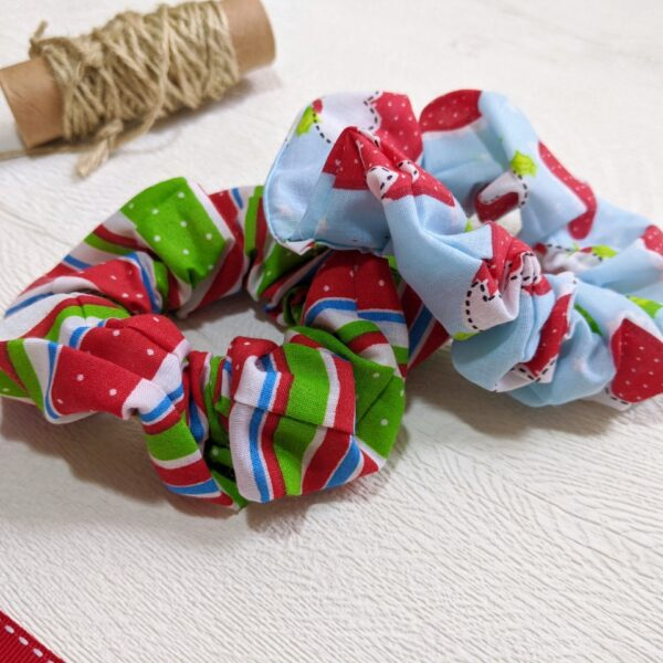 Faith-In-Fabric-2-Handmade-Christmas-Scrunchies-gift-for-girls-big-or-little