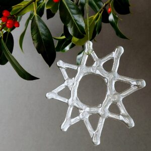 Helen Smith Glass - Clear Recycled Fused Glass Star Christmas Decoration