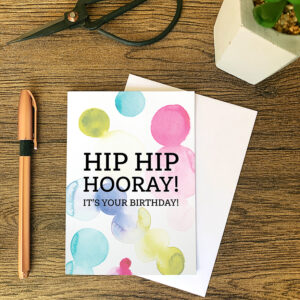 The Dimpse, Birthday card, hip hip hooray