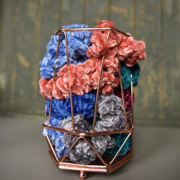 Velvet Scrunchies. Scrunchies in basket. Multiple colours. Scrunchies. Hair accessories
