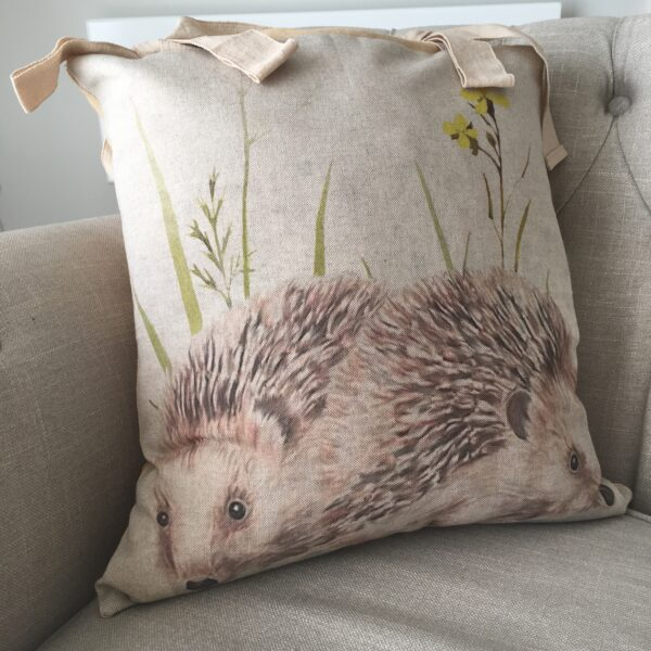 Chloe's Cushion handmade hedgehog cushion