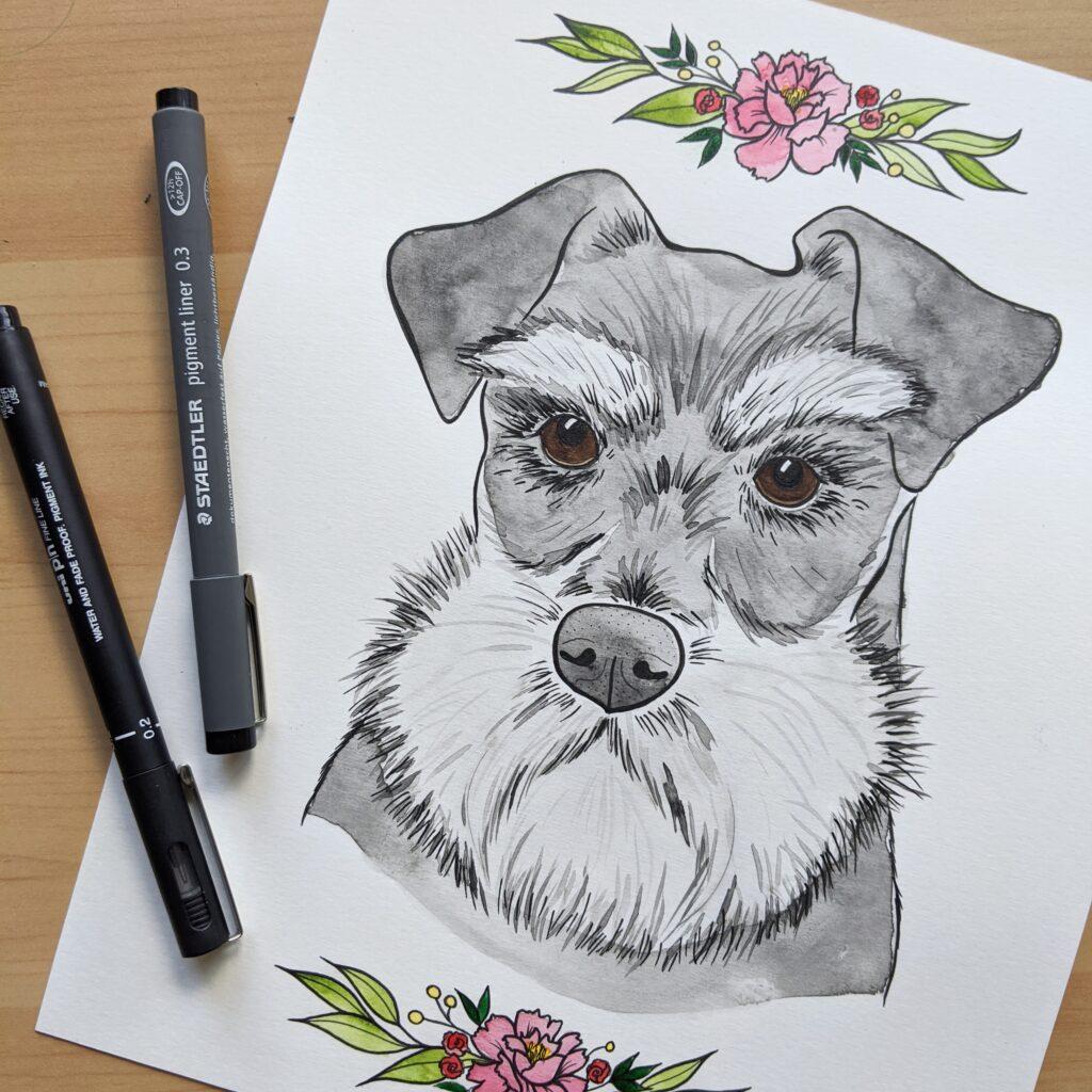 Art by Mr. Custom Dog Portrait