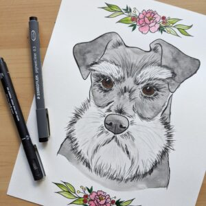 Art by Mr. Custom Dog Portrait