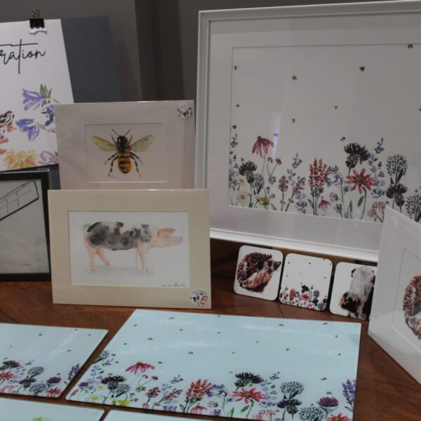 Range of prints and homeware