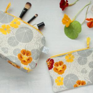 Natalie Laura Ellen, Nasturtium makeup bag