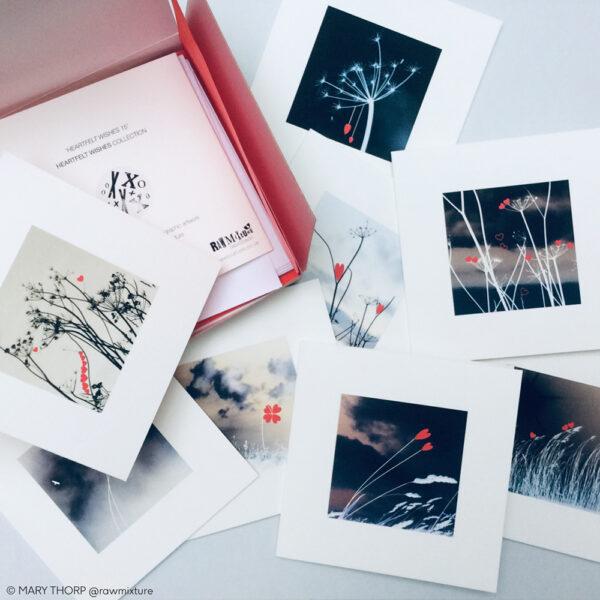 RAW MIXTURE PUBLISHING, Heartfelt Wishes, boxed set nine cards