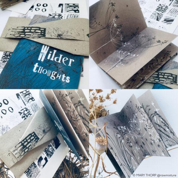 RAW MIXTURE PUBLISHING, small folded handmade zine
