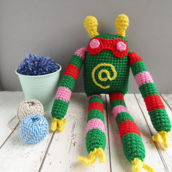 Crochet kit to make a monster