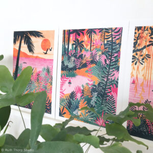 Ruth Thorp Studio, Paradise Collection art prints, wallart