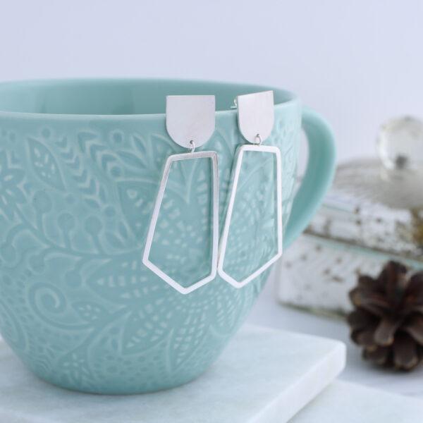 Aimi Cairns Jewellery, Silver Geometric Dangle earrings