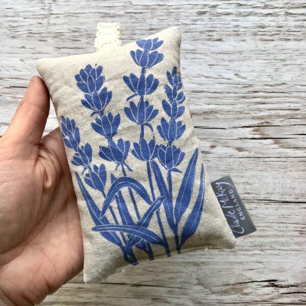 Claire McKay Designs, Hand Printed Lavender Bag
