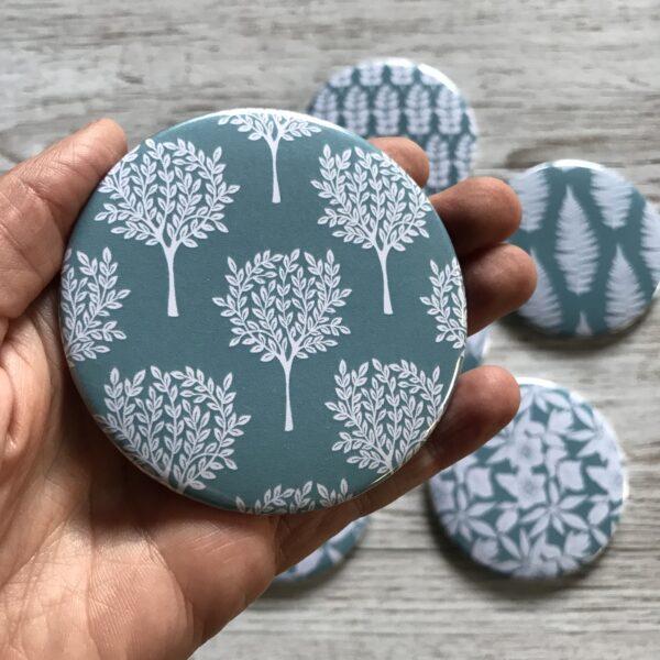 Claire McKay Designs, Pocket Mirror, Mulberry Tree Design