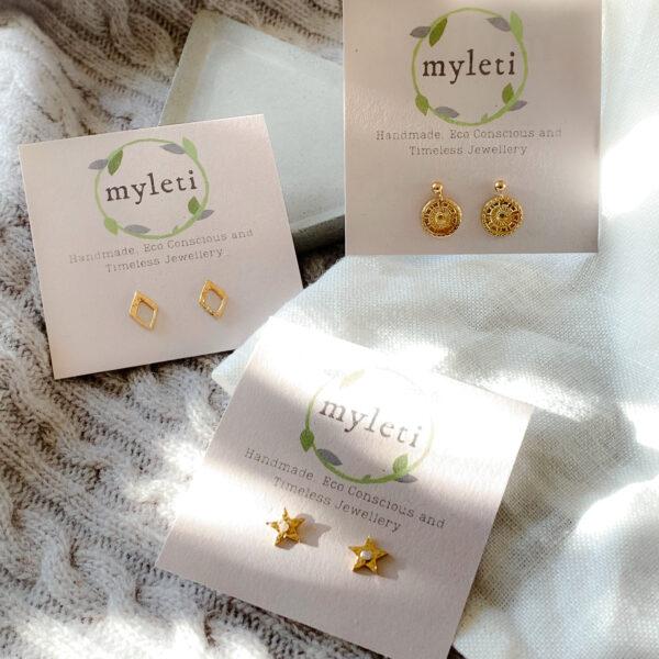 MYLETI JEWELLERY GOLD PLATED STUD EARRINGS
