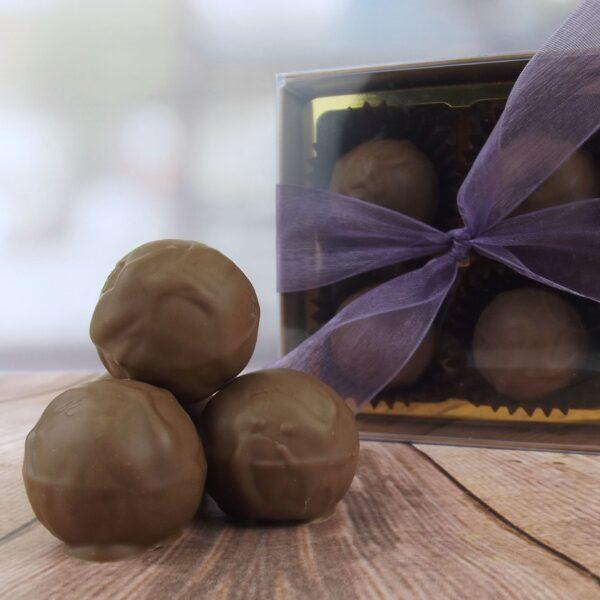box of milk chocolate truffles