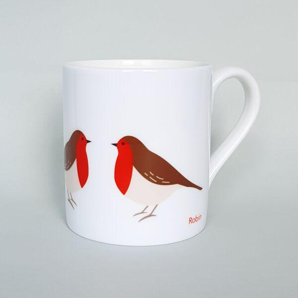 Robin bone china mug