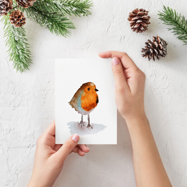 The Dimpse, Robin greeting card, christmas, thinking of you