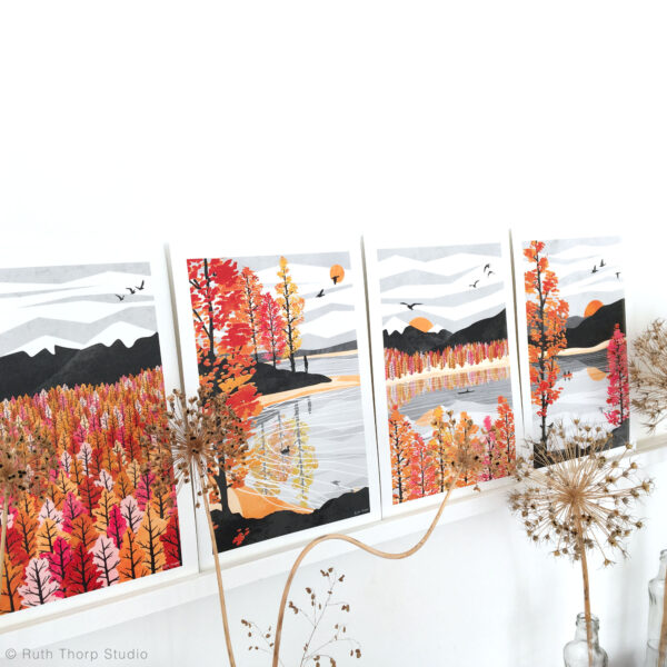 Ruth Thorp Studio, Autumn Collection Art Prints, wall art