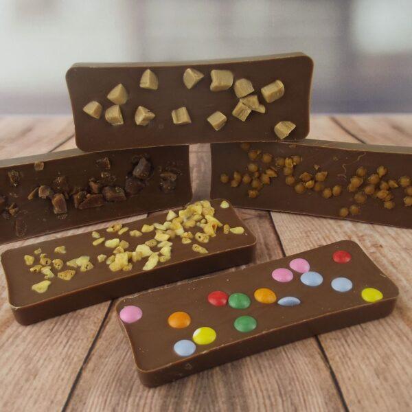 selection of small milk chocolate bars