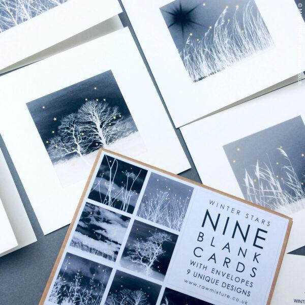 RAW MIXTURE PUBLISHING, Winter Stars, box of nine blank cards