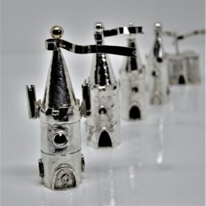 viksilver, sterling silver christening castle boxes