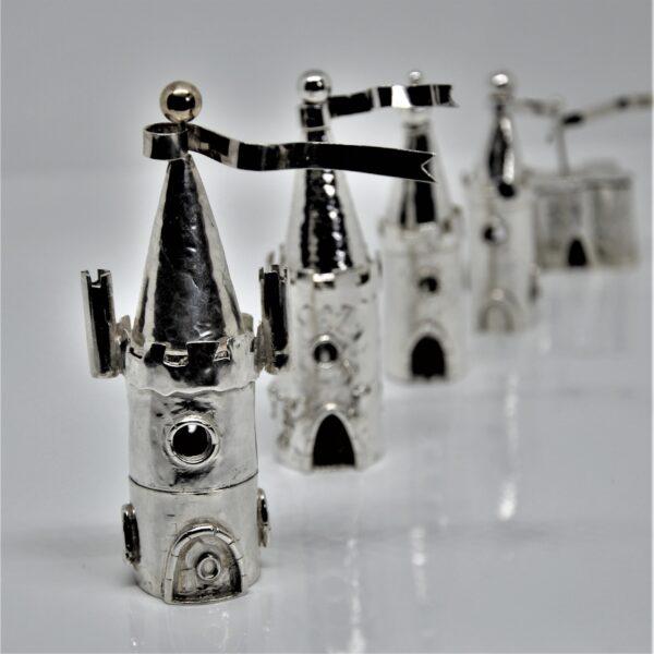 viksilver, sterling silver christening castle boxes