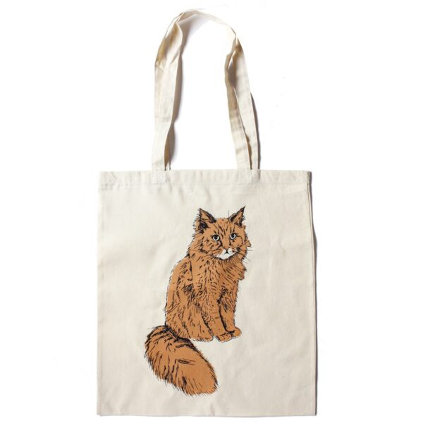 Ginger Cat tote by Fiona Hamilton