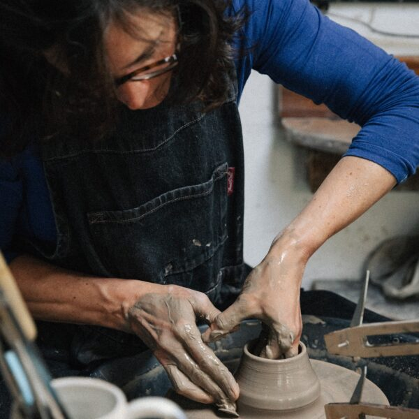 Kate Cooke Ceramics - potters wheel throwing clay mug
