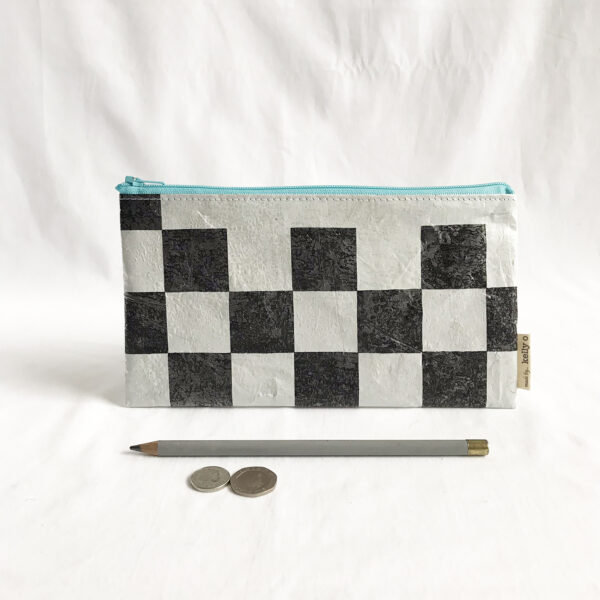 made by kelly o upcycled accessories cuttlefish zip bag