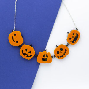 Zooniverse Designs, multiple pumpkin necklace