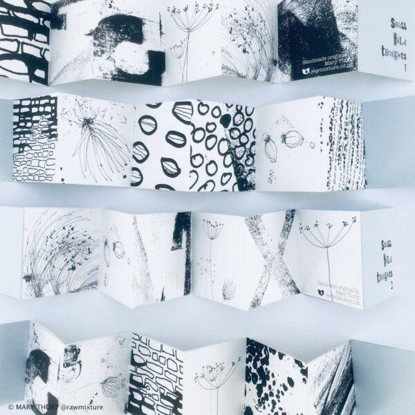 Raw Mixture handmade concertina artists book