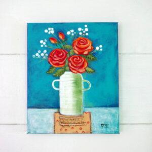 Teodora Paintings Original Rose Artwork