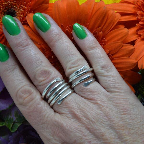 Viksilver, Sterling silver wrap rings