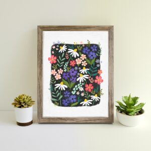 The Little Posy Print Company, Wildflower Illustrated Art Print