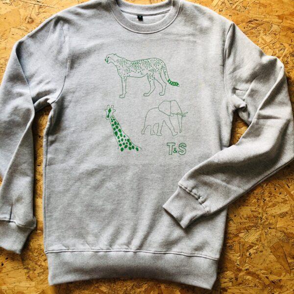 Adult safari jumper in grey