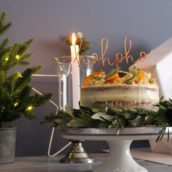 hohoho cake topper by Wired Mama