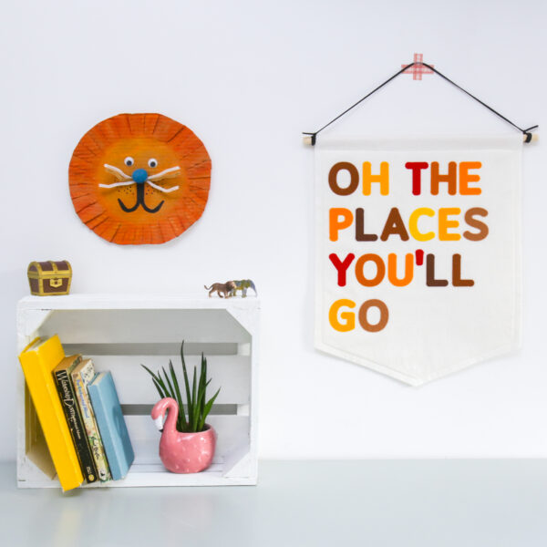 Petit Boo Che, Oh the places you'll go felt nursery banner