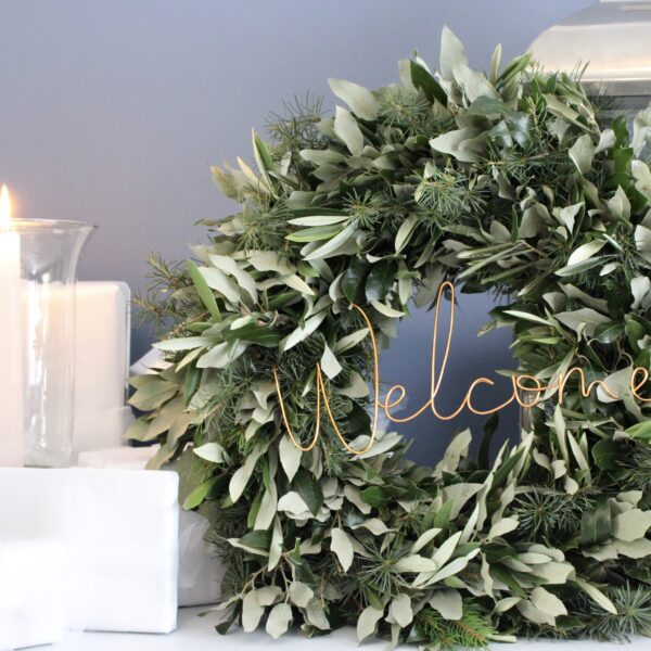 Outdoor Wreath Decorations by Wired Mama