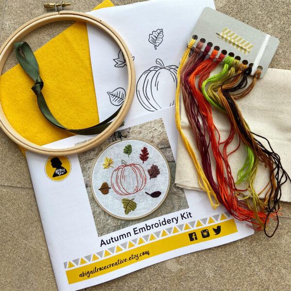 Abigail Rose Creative Autumn Embroidery Kit