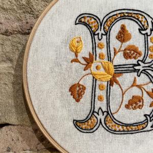 Abigail Rose Creative Initial 'B' Embroidery Hoop