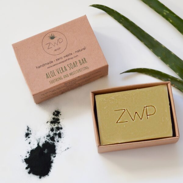 That Refill Place, Natural Aloe Vera Soap which comes in brown compostable box