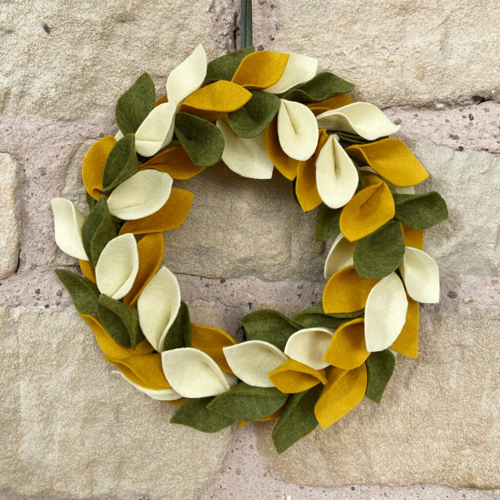 Abigail Rose Creative Felt Leaf Wreath